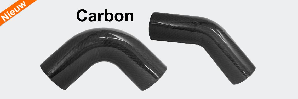 Carbon intercooler buizen 45 en 90 graden
